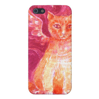 Winged Ginger Cat iPhone 5 Covers