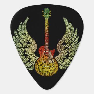 Winged Guitar Pick