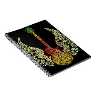 Winged Guitar Spiral Notebook