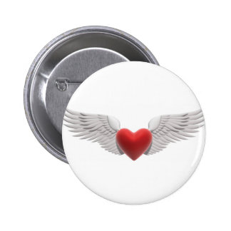 Winged Heart 2 Inch Round Button