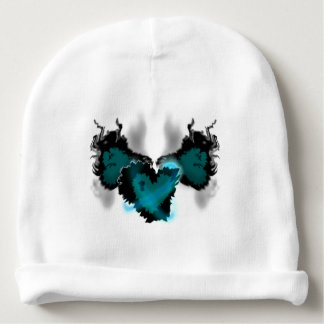 Winged heart baby beanie