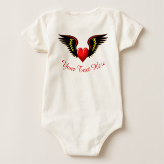 Winged Heart Baby Bodysuit