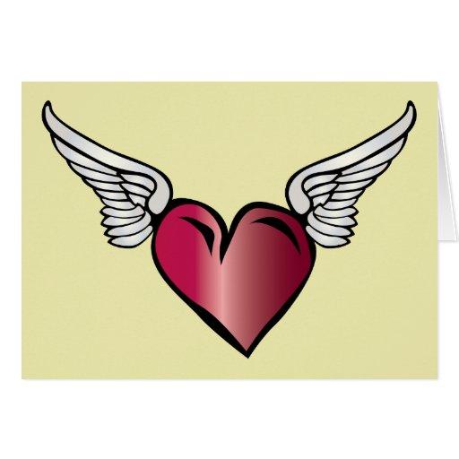 Winged Heart - Love Romance Wings Card