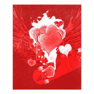 Winged Hearts & Skateboard Valentine's Flyer