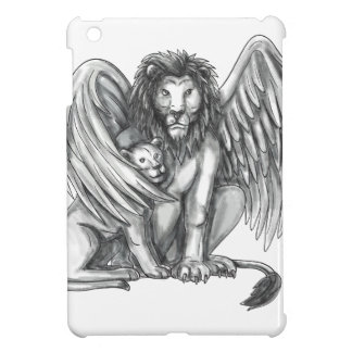 Winged Lion Protecting Cub Tattoo Cover For The iPad Mini
