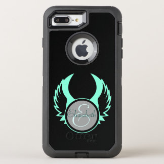 Winged Monogram OtterBox Defender iPhone 8 Plus/7 Plus Case