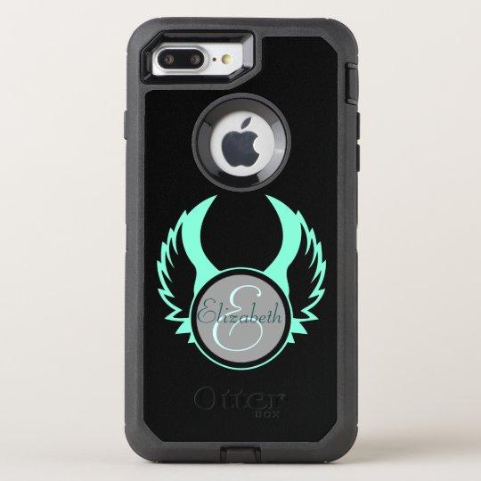 Winged Monogram OtterBox Defender iPhone 8 Plus/7 Plus Case