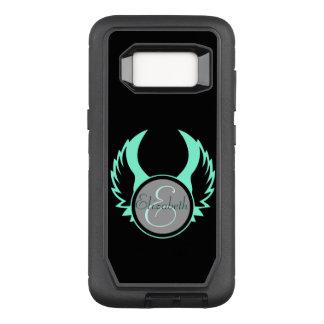 Winged Monogram OtterBox Defender Samsung Galaxy S8 Case