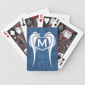 Winged Monogram Playing Cards