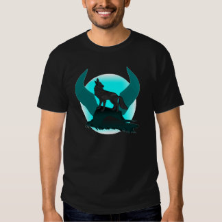 winged moon wolf t shirts