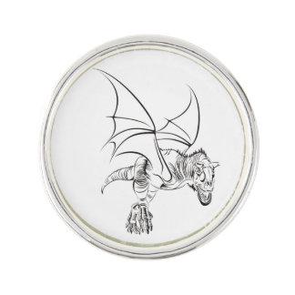 Winged Raptor Lapel Pin