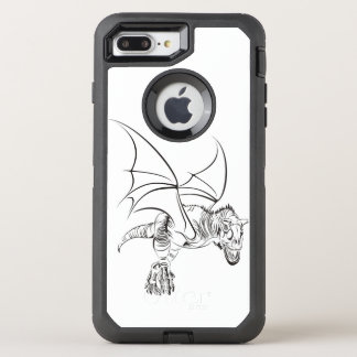 Winged Raptor / Tribal OtterBox Defender iPhone 8 Plus/7 Plus Case