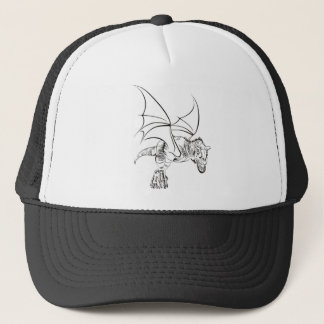 Winged Raptor / Tribal Trucker Hat