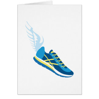 Winged Running Shoe Card
