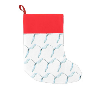 Winged seed small christmas stocking