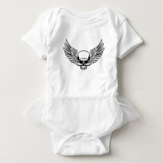 Winged Skull Baby Bodysuit