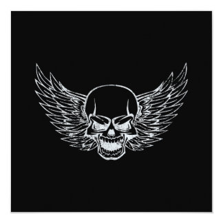 Winged Skull Card