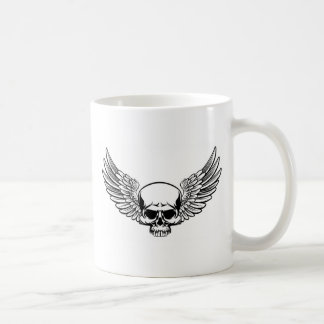 Winged Skull Coffee Mug