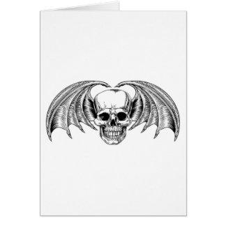 Winged Skull Grim Reaper Card