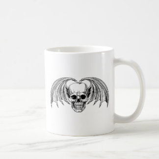 Winged Skull Grim Reaper Coffee Mug