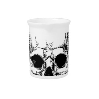 Winged Skull Grim Reaper Drink Pitcher