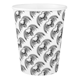 Winged Skull Grim Reaper Paper Cup