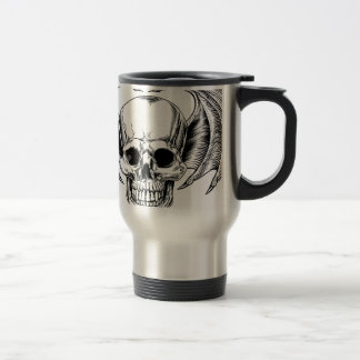 Winged Skull Grim Reaper Travel Mug