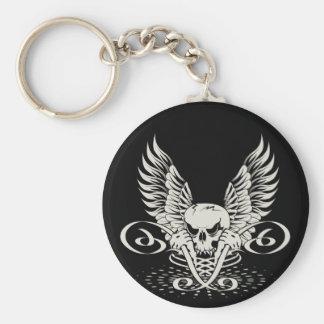 Winged Skull Keychain