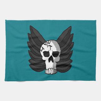 Winged Skull Kitchen Towel