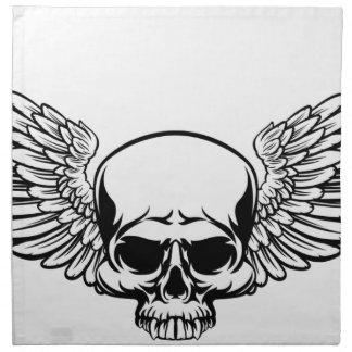 Winged Skull Napkin