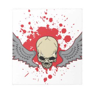 Winged-Skull Notepad