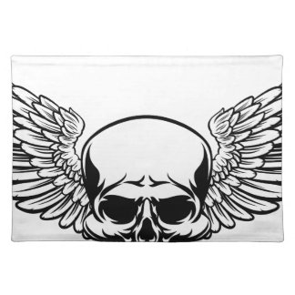 Winged Skull Placemat
