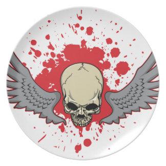 Winged-Skull Plate