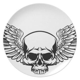 Winged Skull Plate