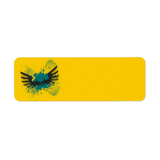 Winged Skull Return Address Label