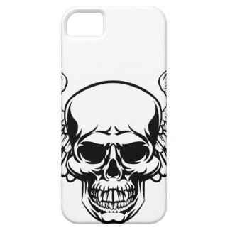 Winged Skull Vintage Engraved Woodcut Style iPhone 5 Case