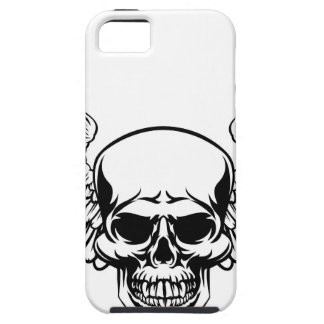 Winged Skull Vintage Engraved Woodcut Style iPhone 5 Cases