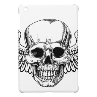 Winged Skull Vintage Woodcut Etched Style Case For The iPad Mini