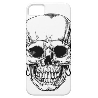 Winged Skull Vintage Woodcut Etched Style Case For The iPhone 5