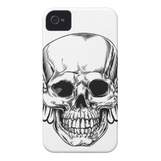 Winged Skull Vintage Woodcut Etched Style iPhone 4 Case-Mate Case