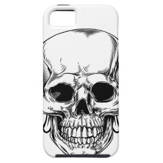 Winged Skull Vintage Woodcut Etched Style iPhone 5 Cover