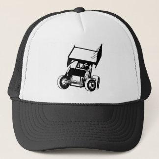 Winged sprint car trucker hat