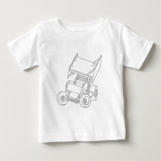 Winged Sprint Skews/white Baby T-Shirt