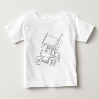 Winged Sprint Skews/white Baby T-Shirt