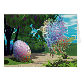 Winged Things - Easter Egg Hunt (message) Card
