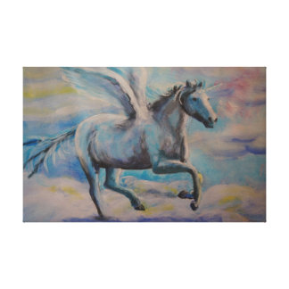 winged unicorn canvas print