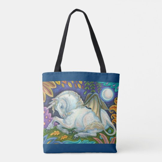 Winged Unicorn Flying Horse Fantasy TOTE BAG