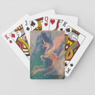 Winged Unicorn Pegasus Cloud Playing Cards