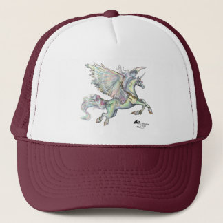 Winged Unicorn Pegasus Pegacorn Horse Pony Trucker Hat