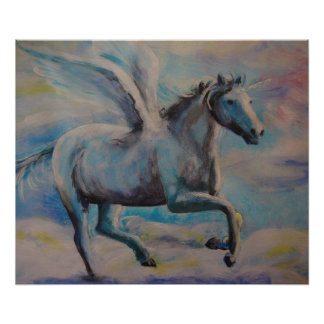 Winged unicorn poster